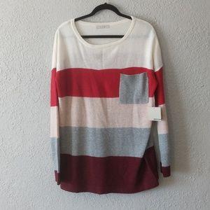 Active USA color block NWT sweater sz L